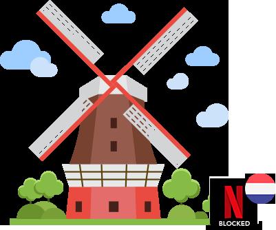 Access US Netflix in netherlands
