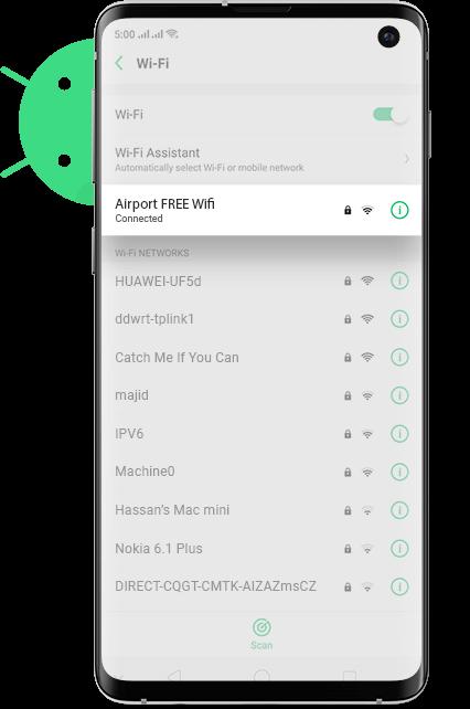 Birmingham Airport wifi Android