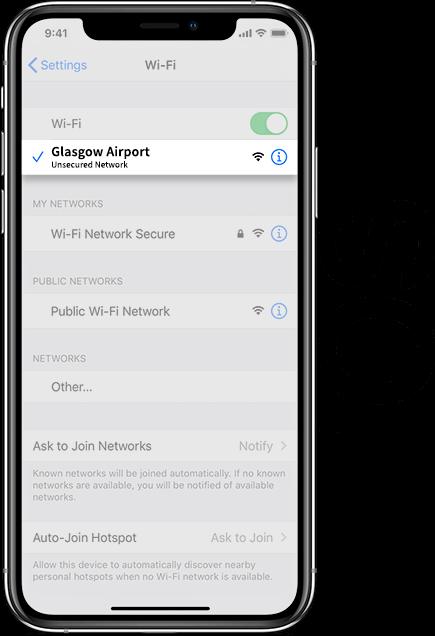 Glasgow Airport Wifi IOS