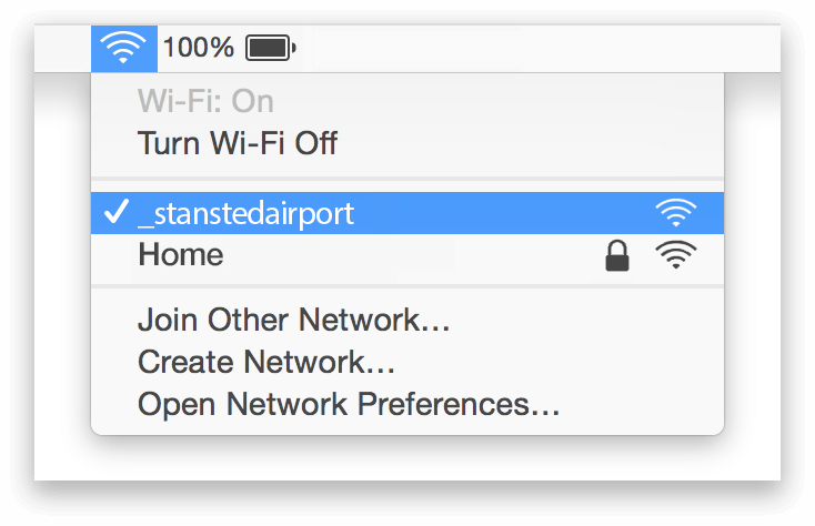 Stansted Airport Wifi Mac