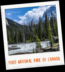 Yoho National Park of Canada