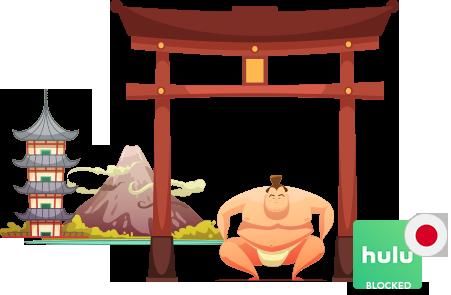 Access Hulu in japan